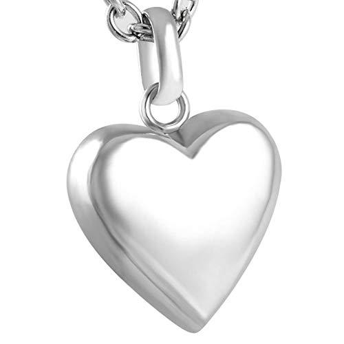 nhänger In Meinem Herzen Feuerbestattung Urn Halskette Edelstahl Menschliche Asche Andenken Memorial Medaillon - Schatulle Schmuck ()