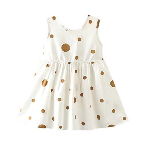 iden Kindbabysommer Sleeveless Wellen-Druckbogen Nettes Prinzessin Kleid Sommerkleid-Kinder Tagesgeschenk ()