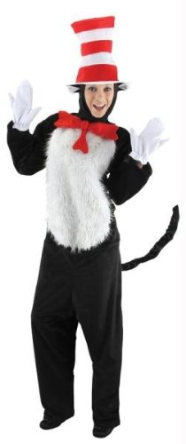 Kost-me f-r alle Gelegenheiten EL400433 Dr Seuss Cat In Hat Adult Sm-M