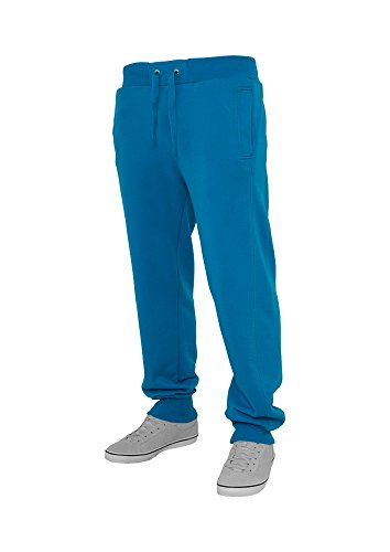 Urban Classics Herren Jogginghose Straight Fit Sweatpants - Regular Fit, Größe:XL;Farbe:turquoise
