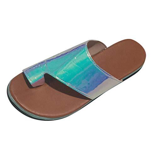 B-commerce Fashion Green Flats Sandalen - Open Toe Beach Clip Toe Schuhe Sandalen