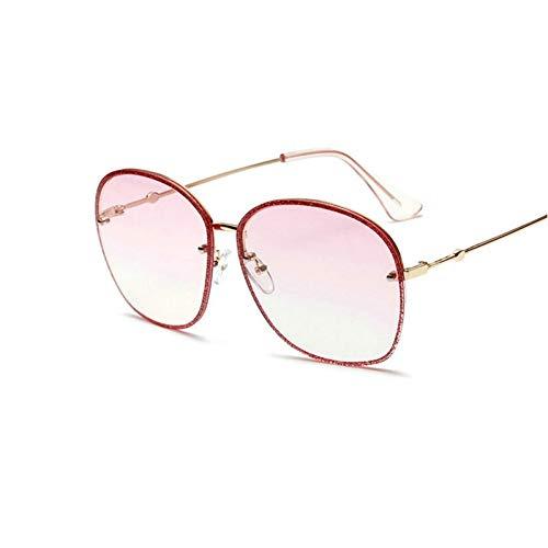 GBST Glitter Square Metal Sunglasses Large Frame Sunglasses,A2