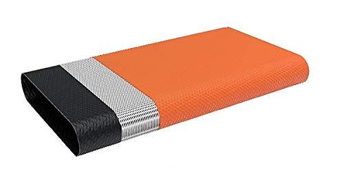 """Quarzflex® Flachschlauch Bauschlauch 38 mm (1 1/2"""" Zoll) 25 m Rolle Orange 3-lagig"""