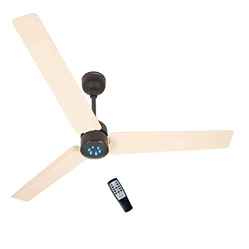 Renesa Energy Saving 5 Star Rated Ceiling Fan with Remote Control and BLDC Motor,1200mm (Ivory Black) -