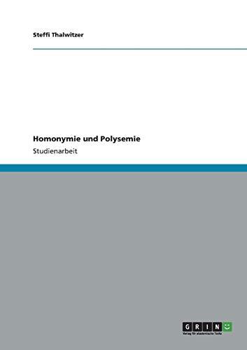 Homonymie und Polysemie
