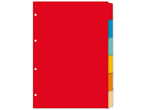 Register Kangaro A4 blanko gerecycled manilla karton 180grs 4r. 6tlg sortiert