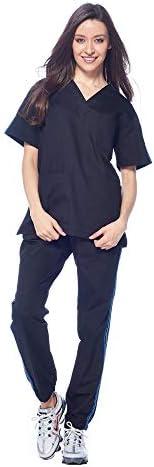 طقم فرك رياضي Dagacci Medical Uniform للجنسين برقبة على شكل V