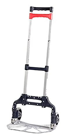Hand Truck, Folding Aluminum Cart, Movers Dolly For All Your Moving Needs Lifts up to 150 Lbs, + 1 Free 24 Bungee Cords, By Bovado USA by Bovado (Aluminum Folding Dolly)