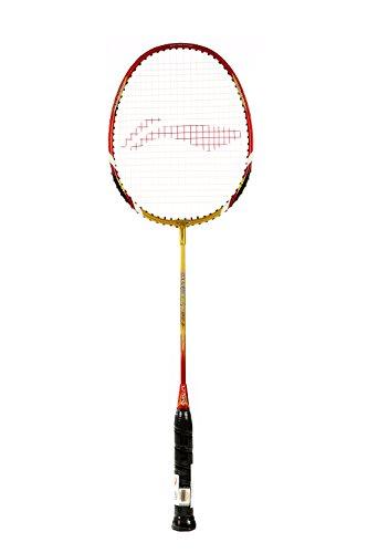 Li-Ning Smash XP 90 II Strung Badminton Racquet (Golden/Red)