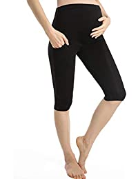 c66f673f50120 Pregnancy Shorts For Women Maternity Leggings Over Bump Cropped Pregnant  Pants