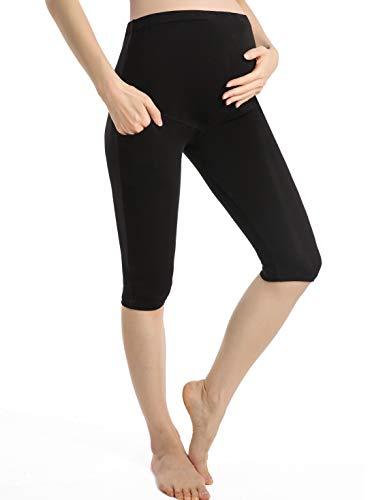 Ferrieswheel Story Umstands Leggins Damen Hose Umstandsmode Sport Shorts Schwangerschaft Taschen Slim Leg Maternity Legging