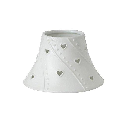 Yankee Candle 1521548 Teller und Lampenschirm für Kerzen, 18 x 18 x 12 cm, Keramik, weiß (Teller Keramik Kerzen)