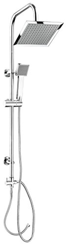 CONP Carballo SA330101 Colonna doccia, con soffione rettangolare