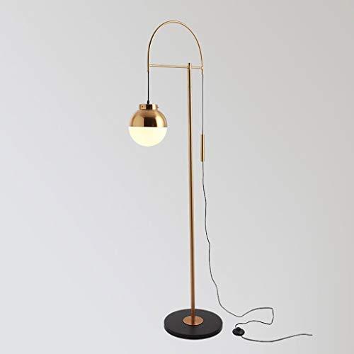 Lampadaires- Lampadaire distinctif lampe de pêche créative postmoderne durable lampe LED lampe de table verticale design nordique en cuivre