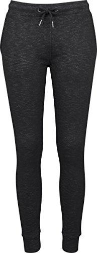 Urban Classics Ladies Space Dye Terry Jogpants, Pantalon de Sport Femme Mehrfarbig (Black/White 50)