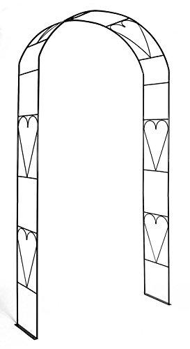 Rosenbogen Herz Breite 109 cm Rosenspalier Rankhilfe Metall Torbogen