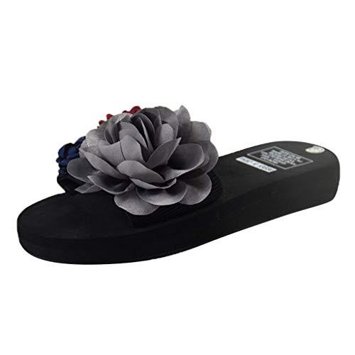 KItipeng Chaussure Femme ÉTé,Pas Cher Slipper Tong,Femme Claquettes Plates Sandales Tongs Chaussures De Plage,Chaussons Sandales Plates Douces Fluffy,Noir, Rouge, Rose, V