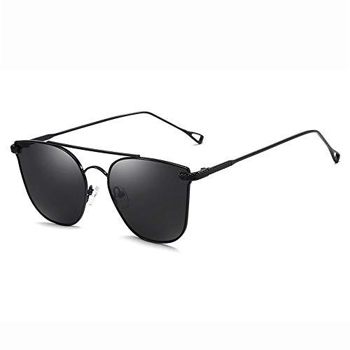 Yiph-Sunglass Sonnenbrillen Mode Sonnenbrille Erwachsener Metallrahmen Unisex Aviator, der polarisierte Sonnenbrille fährt (Farbe : Schwarz, Größe : Casual Size)