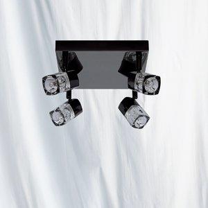 Blocs Noir Finition chromée watts Spot halogène, 7884BC