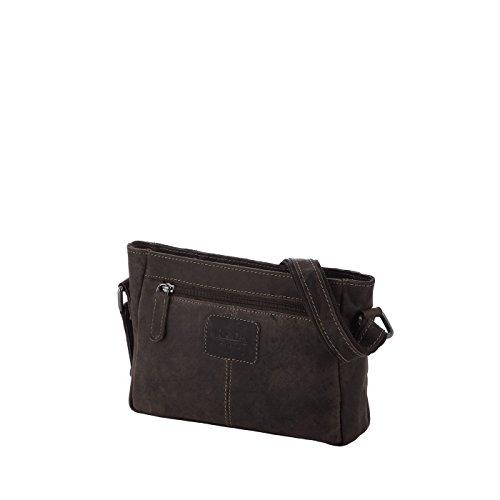 Rada Nature Umhängetasche Townsville echt Leder Handtasche in verschiedenen Farben (tan) dunkelbraun
