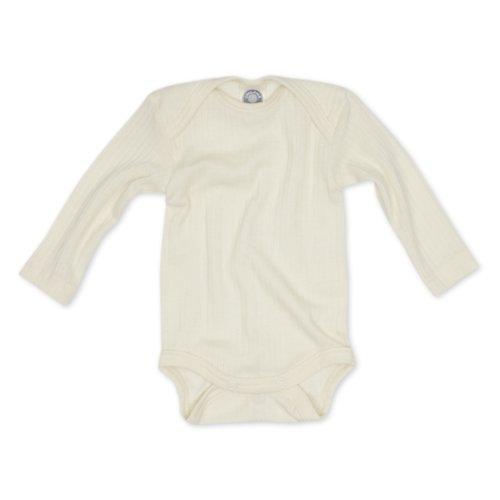 Cosilana Baby Body, Spezial Qualität 45% kbA Baumwolle, 35% kbT Wolle, 20% Seide, Farbe Natur, Größe 98/104