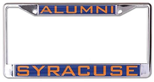 Wincraft Syracuse University Alumni Orange Kennzeichenrahmen Metall mit eingelegtem Acryl, 2 Löcher, Orange Syracuse University