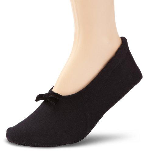 Nur Die Damen Socken 496847/Da Ballerina Haussocke, Gr. 39-42, schwarz (schwarz 940)