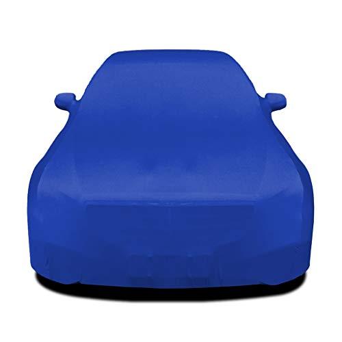 Autoabdeckung Auto Abdeckplane Kompatibel mit BMW 1er M Stretch Cloth Car Cover Sonnenschutz Staubdichtes Innen Ausstellung Auto Garage Car Cover elastischen Tuch (Color : Blue)