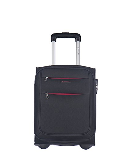 Koffer Reisekoffer Hartschalen Trolly Puccini® Camerino 4 Größen 4 Farben (Schwarz (1), Kabinenkoffer klein)