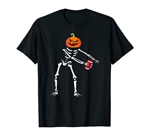 Flossing Skeleton Funny Football Lover Floss Dance T-Shirt