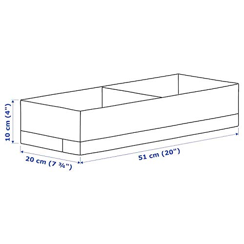 Ikea Polyester Box with compartments (White/Grey, 20x34x10 cm)