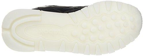 Reebok Classic L, Sneaker Donna Nero (Pearl- Black / White / Ice)