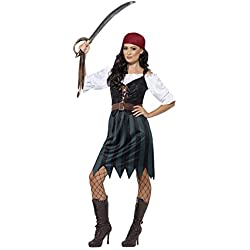 Disfraz de marinera Pirata, azul, para mujer.