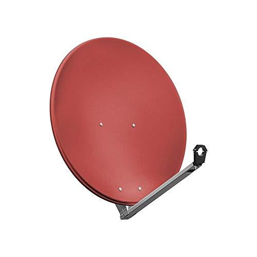 Goobay SAT-Spiegel/Schüssel (80 cm, HDTV, 40mm Feed, 30-60mm Mast) ziegelrot