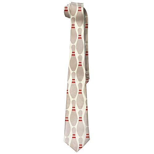 Gorgeous practical goods Bowling Pins Men's Tie Long Necktie Skinny Neckwear Silk