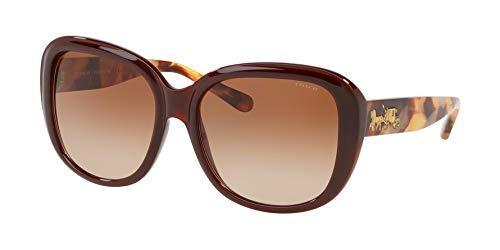 Coach - HC8207 57 L1634, Sonnenbrille für Damen, 57 mm Damen, Braun (Dark Honey Solid/Brown Gradient), Einheitsgröße