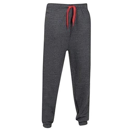 Dwevkeful Sporthose Herren Reflektierende Trousers Pants Hosen Freizeithose Trainingshose Trekkinghose Jogginghose Verstellbarem Tunnelzug -