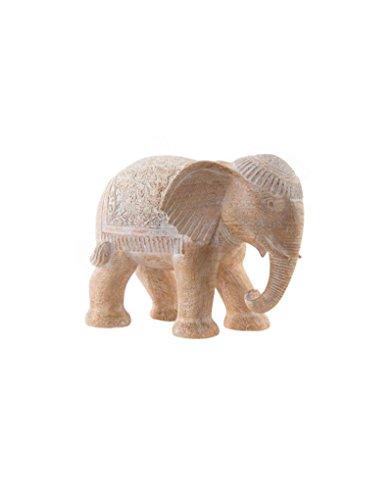 Figura Elefante en Resina Estilo Oriental para Decoración Hogar y Más