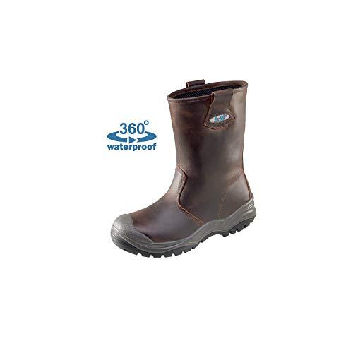 Lupriflex Lupriflex 1 Paar Aqua Offshore Profi Wasserdichter Sicherheits-Schlupfstiefel, S3, Schuhweite 11,5 Braun Größe 39