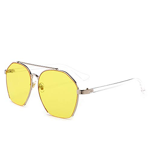FYrainbow Sonnenbrille, stilvolle Sonnenbrille transparente Linsen Anti-Brirey-Wohnung am besten für den Angeln Golf Outdoor-Reisen Shopping,F