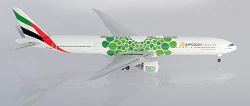 Herpa 533720 Emirates Boeing 777-300ER Expo 2020 Dubai Sustainability Livery en Miniatura para Manualidades y como Regalo, Multicolor