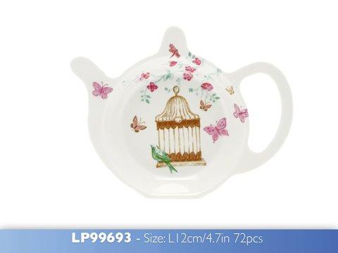 Leonardo Repose Sachet de thé, Forme Papillon, Fleurs, Théière, de