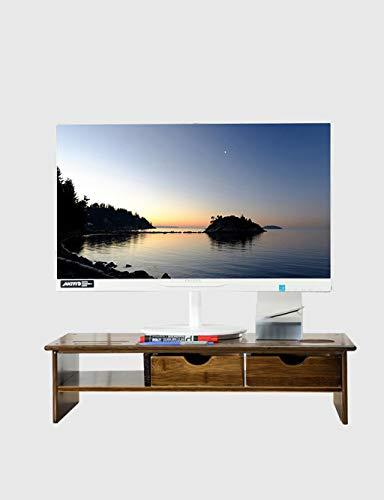 Universal Bambus Monitor Steht Lautsprecher TV PC Laptop Halterung Computer Bildschirm Riser Schreibtisch Veranstalter 22 zoll Regal