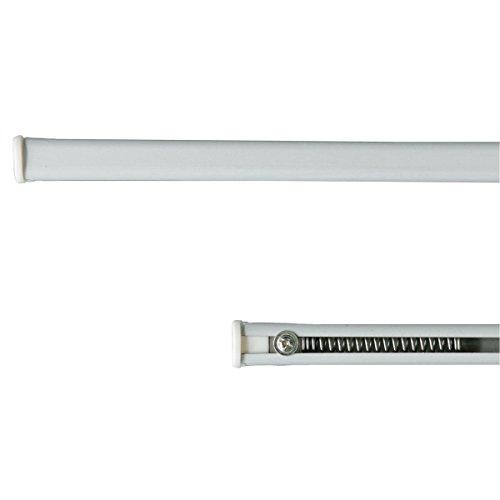 Coppia bastoncini per tende a pressione regolabili da 30 a 40 cm Bianco N389