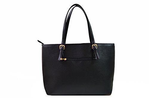 Miniprix sac classeur , Damen Tote-Tasche Schwarz schwarz one size weiß / schwarz