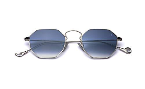 Eyepetizer occhiali da sole unisex modello claire metallo colore argento e lente blu flash