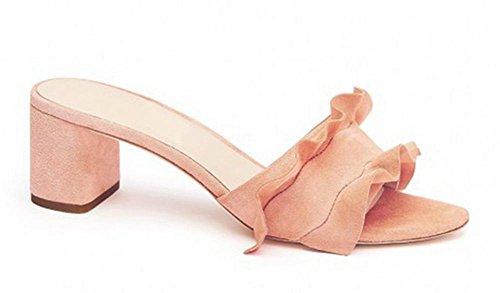 Frau kühlen Hausschuhe Frühling und Sommer dick mit hochhackigen Sandalen Schuhe Student Pink