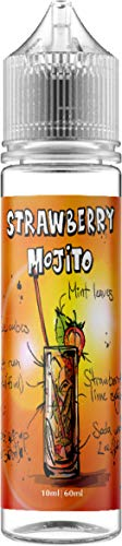 Strawberry Mojito E Liquid, 50ml nikotinfrei, Erdbeere, dezenter Rum, Limette, Pfefferminz