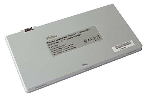 vhbw Li-Polymer Akku 4800mAh (11.1V) für Notebook Laptop HP Envy 15-1030ef, 15-1040er, 15-1050ca, 15-1050es Wie HSTNN-IB0I, 570421-171, u.a. (Laptop 1040er Akku)