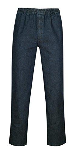 Herren Jeans Stretch Schlupfhose Schlupfjeans ohne Cargo-Taschen-Dunkelblau-L